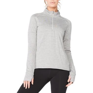 T-Shirt 2XU IGNITION Femme Manches Longues Zip 1/4 Gris 2021